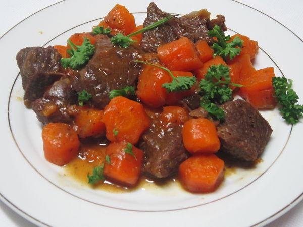 Boeuf carotte au cookeo