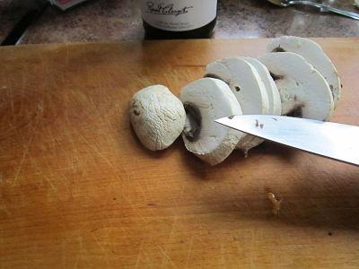 Découpe des champignons