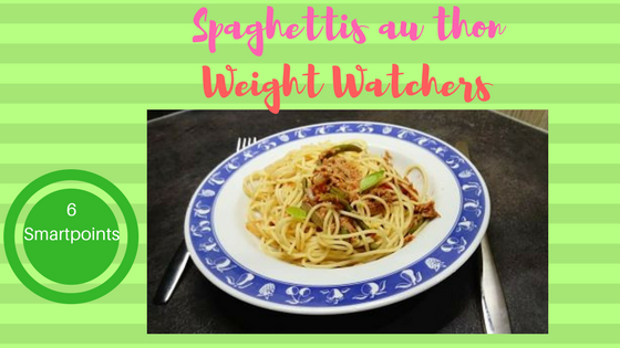 spaghettis au thon weight watchers