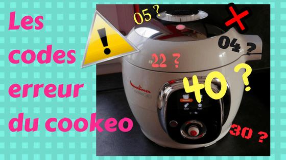 les différents code erreur cookeo