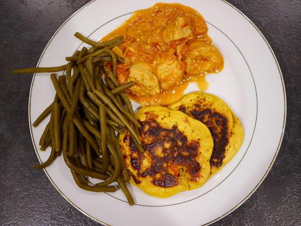 assiette de poulet tikka massala