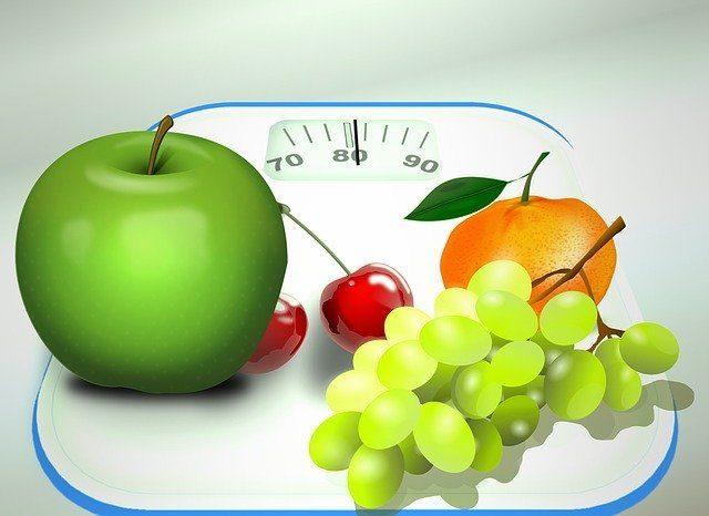 légumes sur un pèse personne