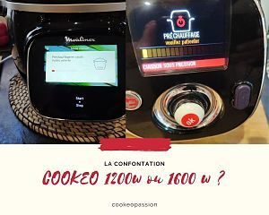 Difference cookeo 120w et 1600w