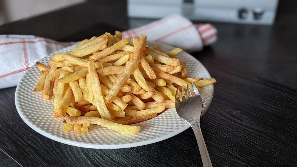 assiette de frites extra crisp